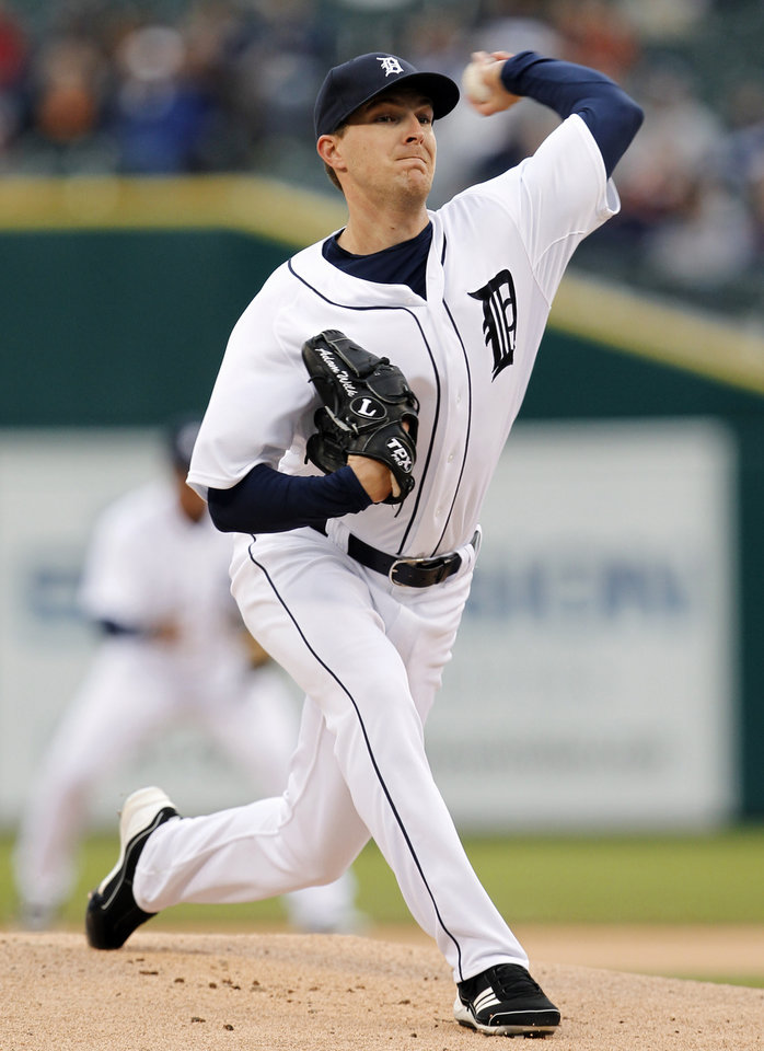 Photo -   Detroit Tigers pitcher Adam Wilk throws against the Seattle Mariners in the first inning of a baseball game, Wednesday, April 25, 2012, in Detroit. (AP Photo/Paul Sancya)