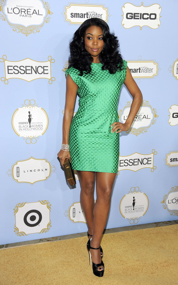 Photo - Actress Gabrielle Union, recipient of the Fierce & Fearless award, poses at the 6th Annual Black Women in Hollywood Luncheon at the Beverly Hills Hotel on Thursday, Feb. 21, 2013 in Los Angeles. (Photo by Chris Pizzello/Invision/AP)