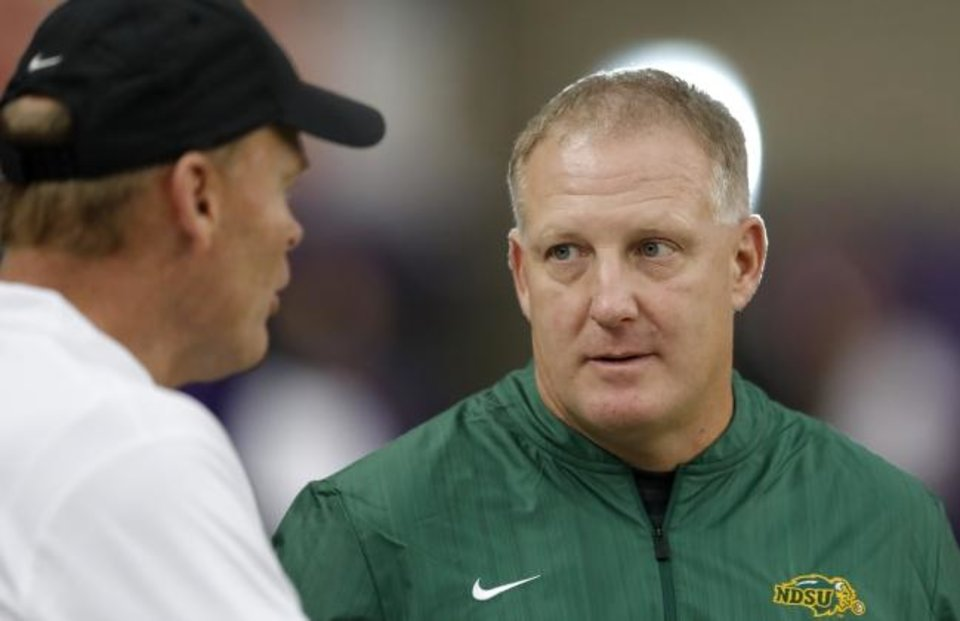 Photo -  First-year Kansas State football coach Chris Klieman spent eight seasons at North Dakota State, three as an assistant and five as the head coach. The Bison won seven FCS national titles during that time. Klieman could've stayed in Fargo and become a legend. Instead, he is replacing a legend in Manhattan. [AP PHOTO]