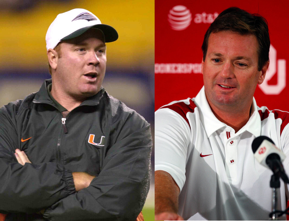 Mark Stoops, left, and Mike Stoops, right.