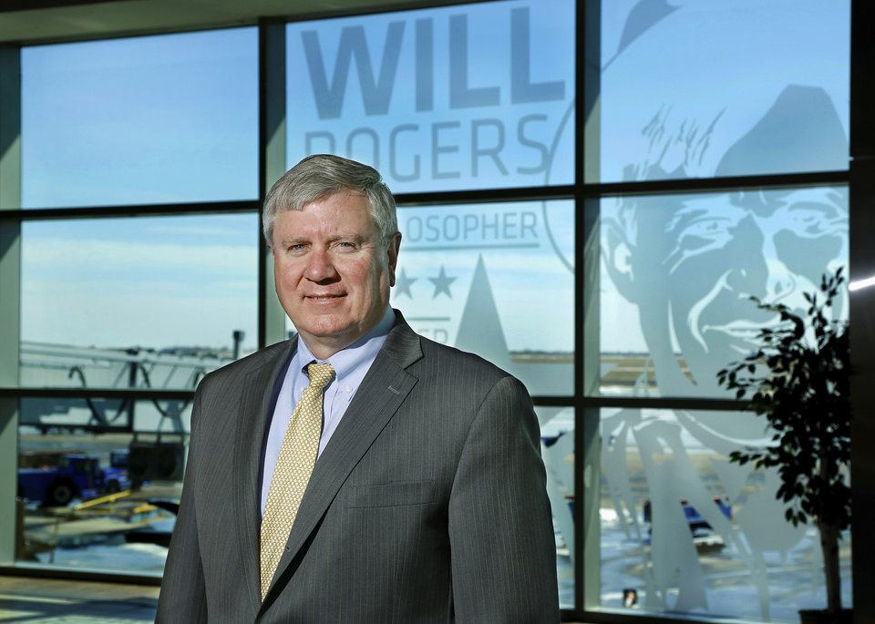 Photo -  Oklahoma City Airports Director Mark Kranenburg on the concourse level at Will Rogers World Airport. Photo by Jim Beckel, The Oklahoman   Jim Beckel -