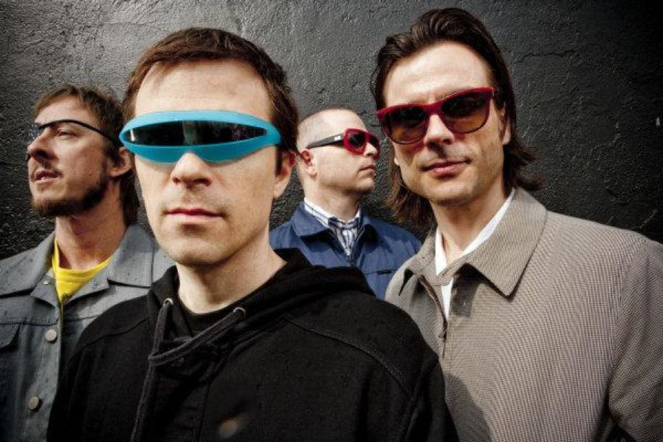 Photo - Weezer, from left: Scott Shriner, Rivers Cuomo, Patrick Wilson, Brian Bell. PHOTO PROVIDED  Sean Murphy