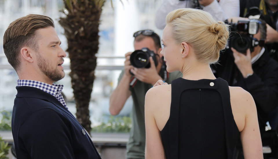 Photo - From left, actors Justin Timberlake and Carey Mulligan pose for photographers during a photo call for the film Inside Llewyn Davis at the 66th international film festival, in Cannes, southern France, Sunday, May 19, 2013. (AP Photo/Lionel Cironneau)