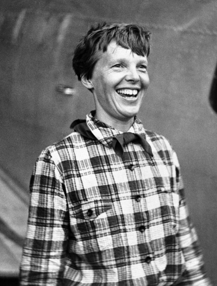Photo - FILE - In this June 6, 1937, file photo, Amelia Earhart, the American airwoman who is flying round the world for fun, arrived at Port Natal, Brazil, and took off on her 2,240-mile flight across the South Atlantic to Dakar, Africa. (AP Photo,File)