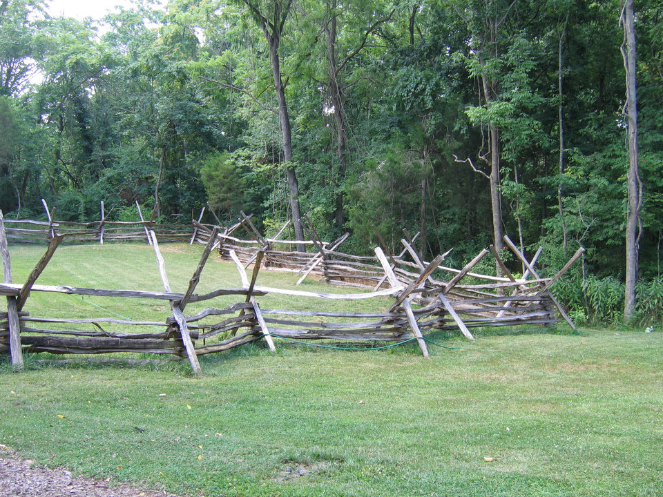 Photo - A fence constructed of locust timbers. PHOTO BY RICK ROGERS, THE OKLAHOMAN 	ORG XMIT: 1001081813070829