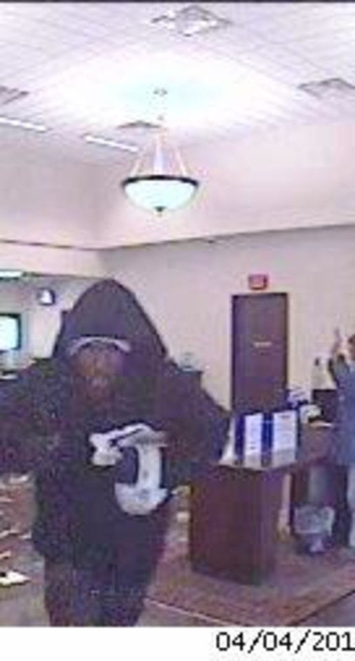 Man suspected of robbing a bank Thursday morning. Photo provided. <strong></strong>