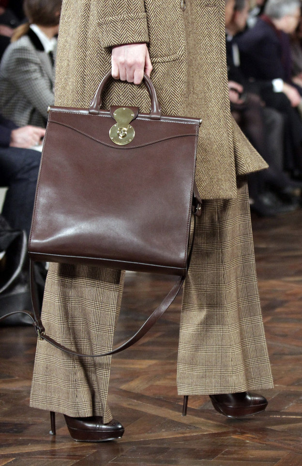 Photo - This Feb. 16 photo shows fashion from the Fall 2012 collection of Ralph Lauren during Fashion Week in New York. AP FILE PHOTO  Bebeto Matthews - AP