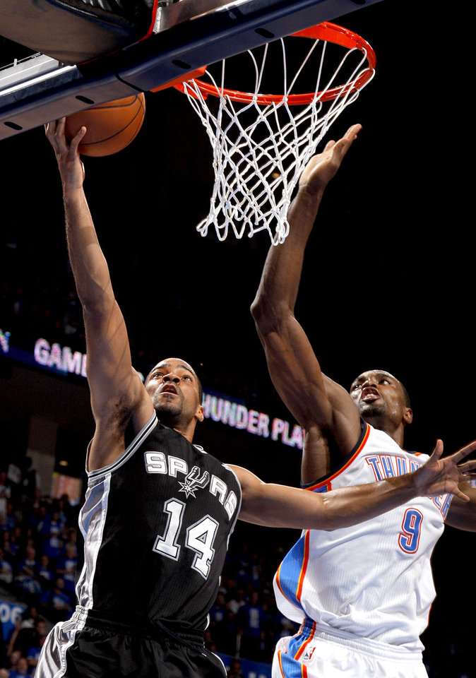 Photo - during Game 3 of the Western Conference Finals between the Oklahoma City Thunder and the San Antonio Spurs in the NBA playoffs at the Chesapeake Energy Arena in Oklahoma City, Thursday, May 31, 2012.  Photo by Sarah Phipps, The Oklahoman