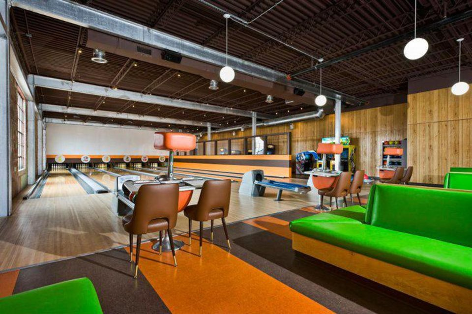 Dust Bowl in Tulsa features old fashioned bowling lanes - which will be replicated in MidTown. <strong>Provided</strong>