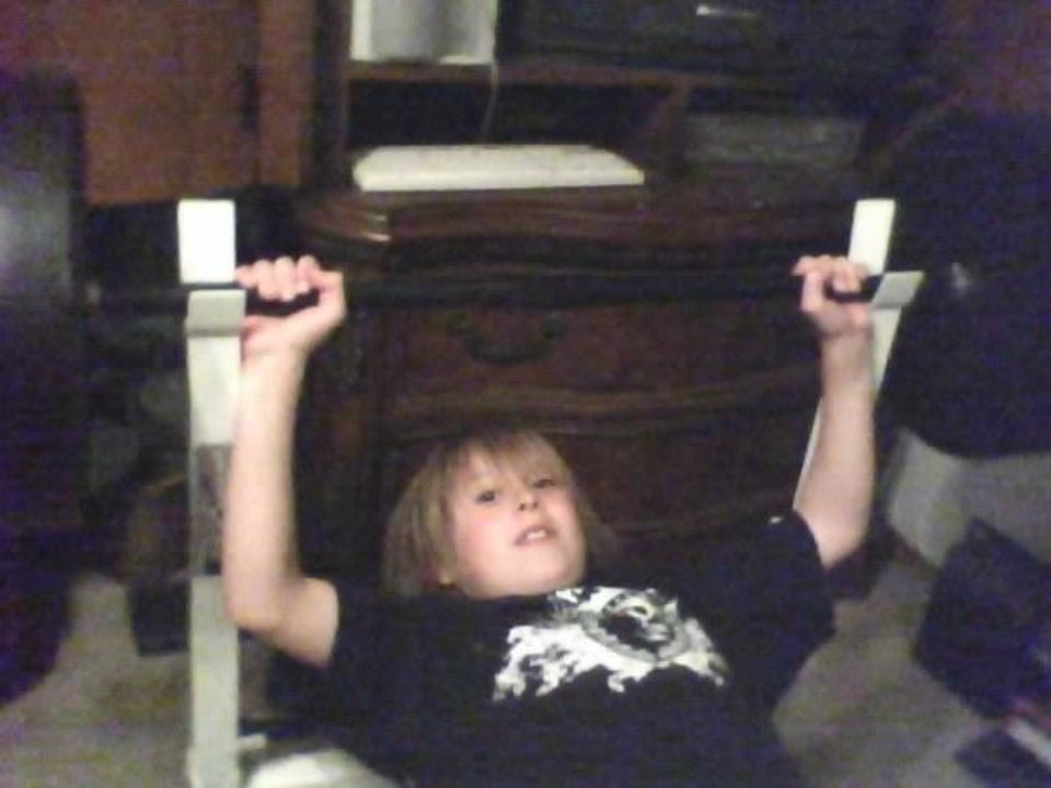 first workout Kash age 10<br/><b>Community Photo By:</b> MOM Tama<br/><b>Submitted By:</b> Tama, Midwest