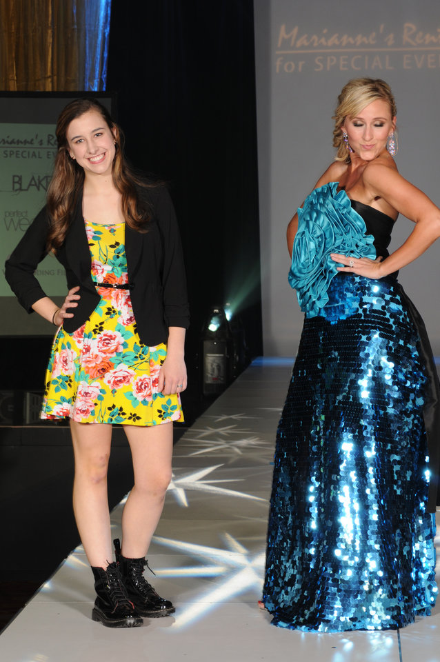 Photo -  A Miracle Child posess with Miss Oklahoma 2009 Taylor Treat/Burget at last year's Linen Fashion Show. Photo provided.
