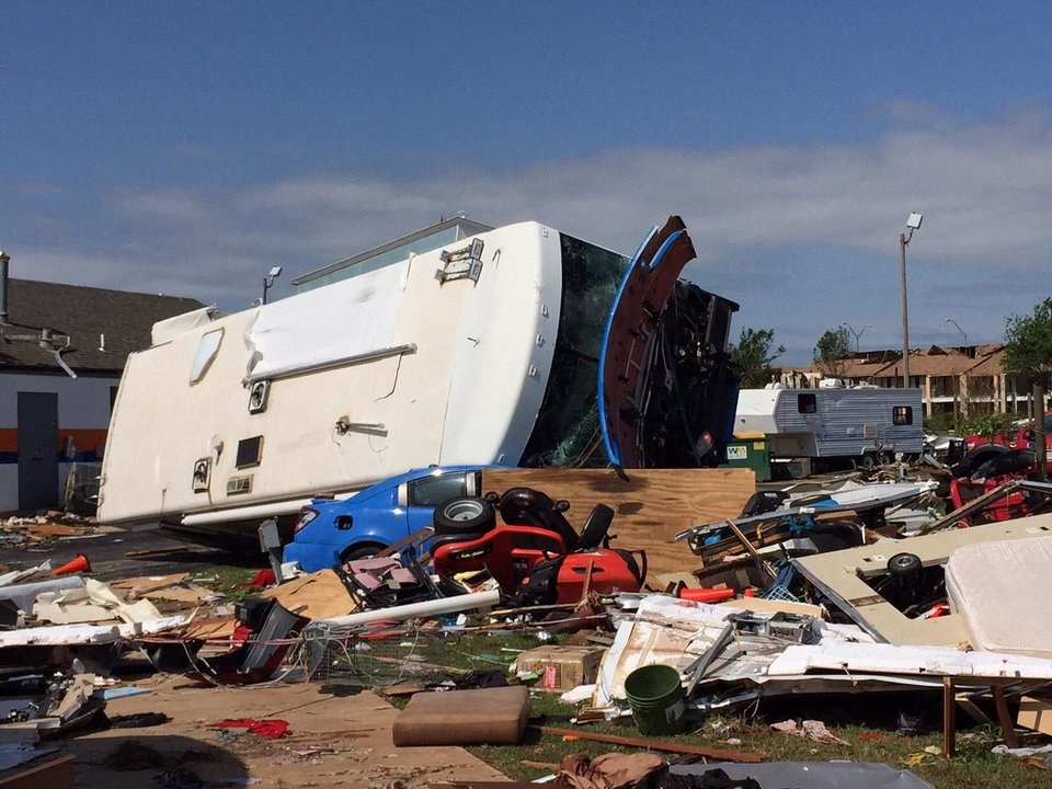 Photo - RV park near I-35 and SE 44th street in Oklahoma City. Photo by Steve Gooch, The Oklahoman