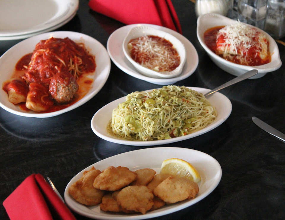 The menu at Isle of Capri in Krebs revolves around pasta. <strong>DAVE CATHEY - THE OKLAHOMAN</strong>