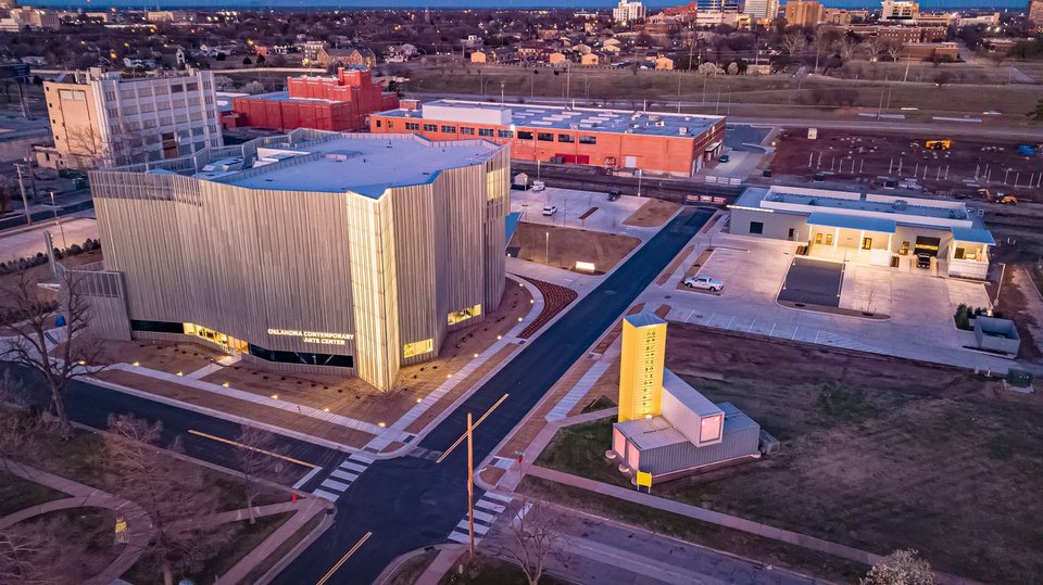 Photo - Oklahoma Contemporary Arts Center's new $30 million home is located at NW 11 and Broadway but has not yet opened to the public due to the coronavirus pandemic. [Dave Morris/The Oklahoman Archives]