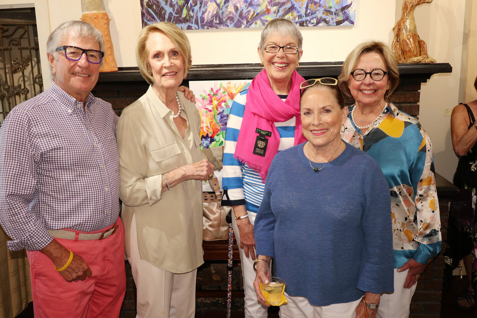 Photo - Kent Cohenour, Sandy Meyers, Patty Cohenour, SoRelle Fitzgerald, Fanny Bolen. DOUG HOKE PHOTO, THE OKLAHOMAN