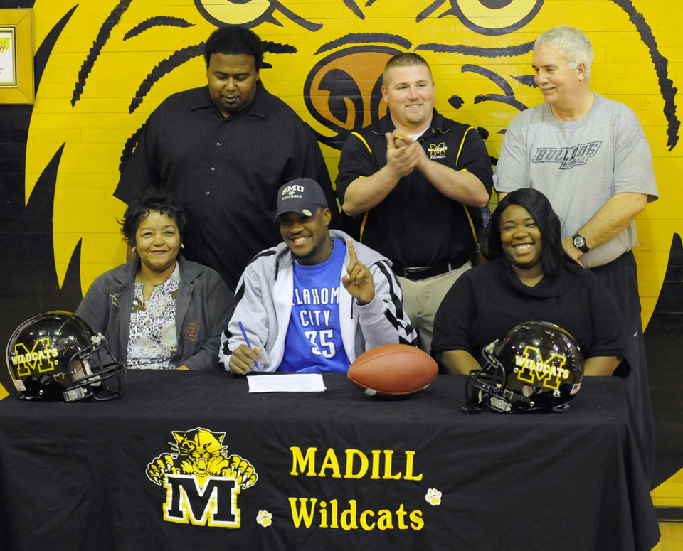 Madill's Darryl Fields signed a letter of intent to play at Southern Methodist on Wednesday, Feb. 3. PHOTO PROVIDED