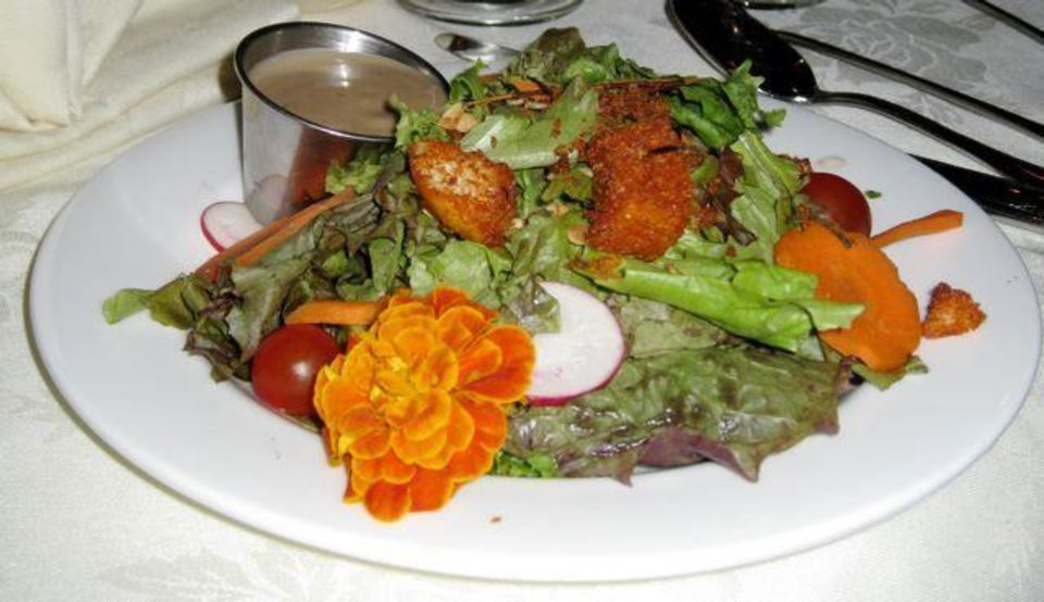 BEST FOOD EVER...Salad...the first course for the luncheon honoring  Sharon Dowell. (Photo by Helen Ford Wallace)