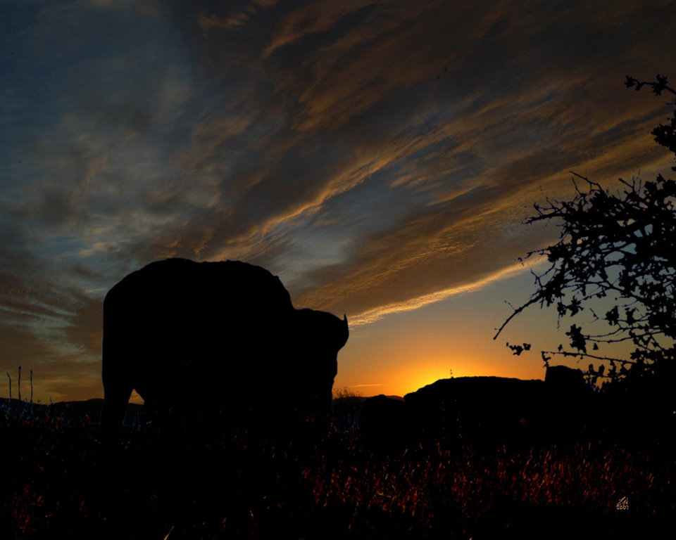 Digitally Altered .. Sunrise in the Wichita Mountains game reserve.<br/><b>Community Photo By:</b> Eldon Harris<br/><b>Submitted By:</b> Eldon, Bethany
