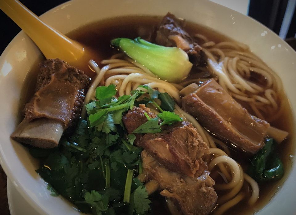 Photo - Noodle soup with spare ribs from Northern Noodle House in Oklahoma City. [Dave Cathey/The Oklahoman]