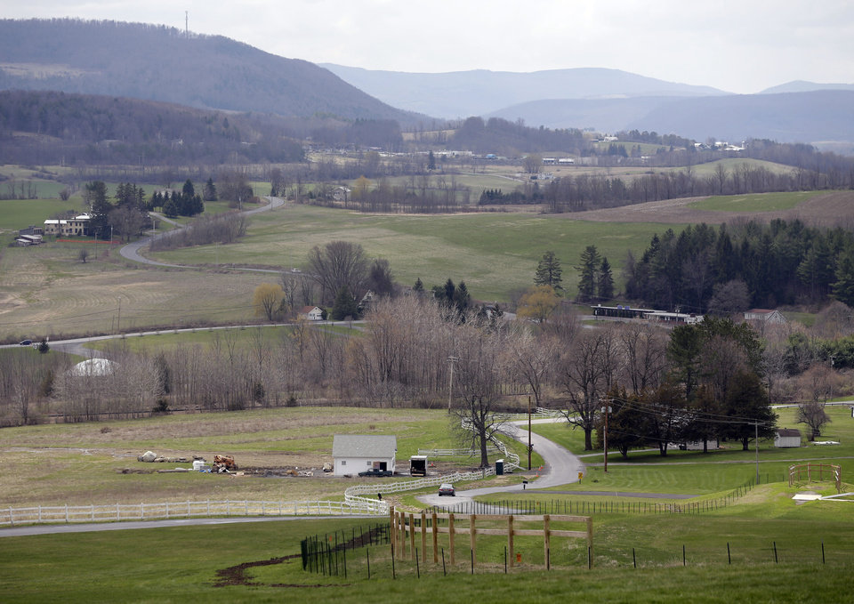 Photo - A view from the main lodge at Howe Caverns is seen on Thursday, May 1, 2014, in Howes Cave, N.Y. A handful of local business owners are vying to build casinos in upstate New York, joining a bidding competition that includes gambling giants like Caesars and Genting. (AP Photo/Mike Groll)