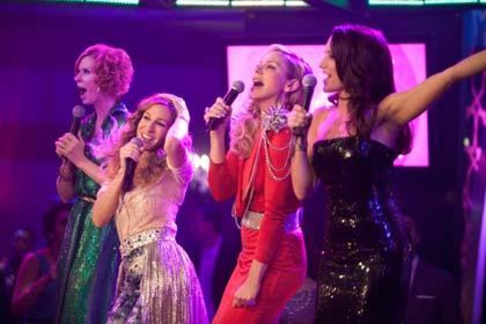 "Cynthia Nixon, Sarah Jessica Parker, Kim Cattrall, from left, star in ""Sex and the City."""