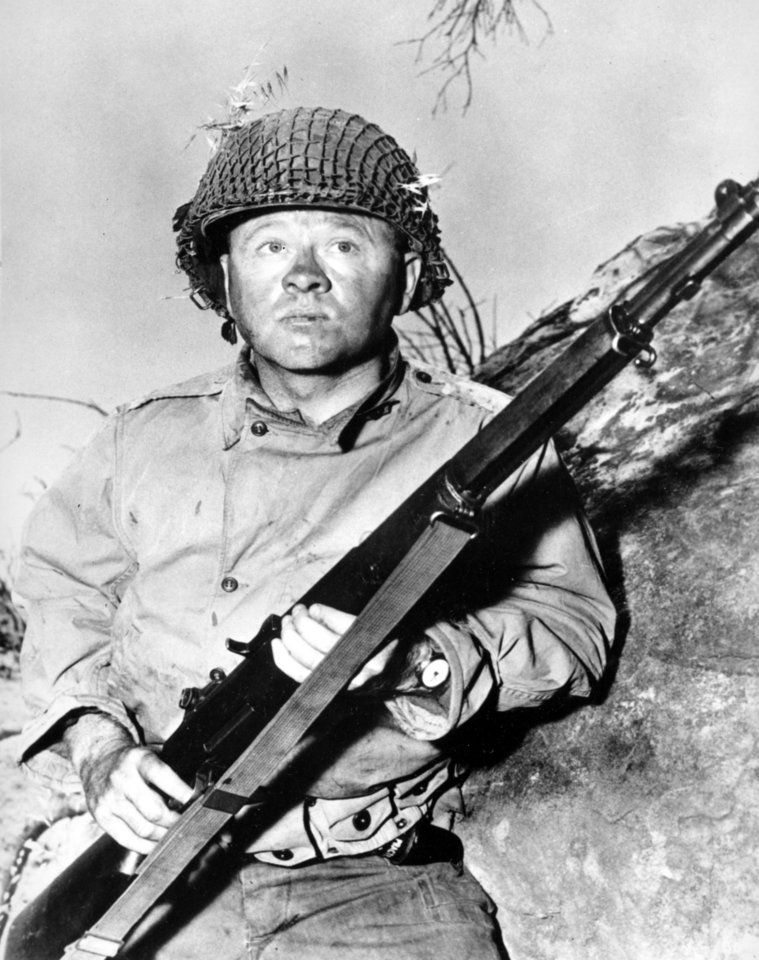 Photo - FILE - Actor Mickey Rooney is shown in this file photo as G.I. Dooley in the 1956 Hollywood movie
