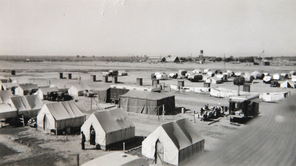 Beatrice Warren, 100, worked in this California migrant camp when she was a nurse during the Dust Bowl era. Photo provided
