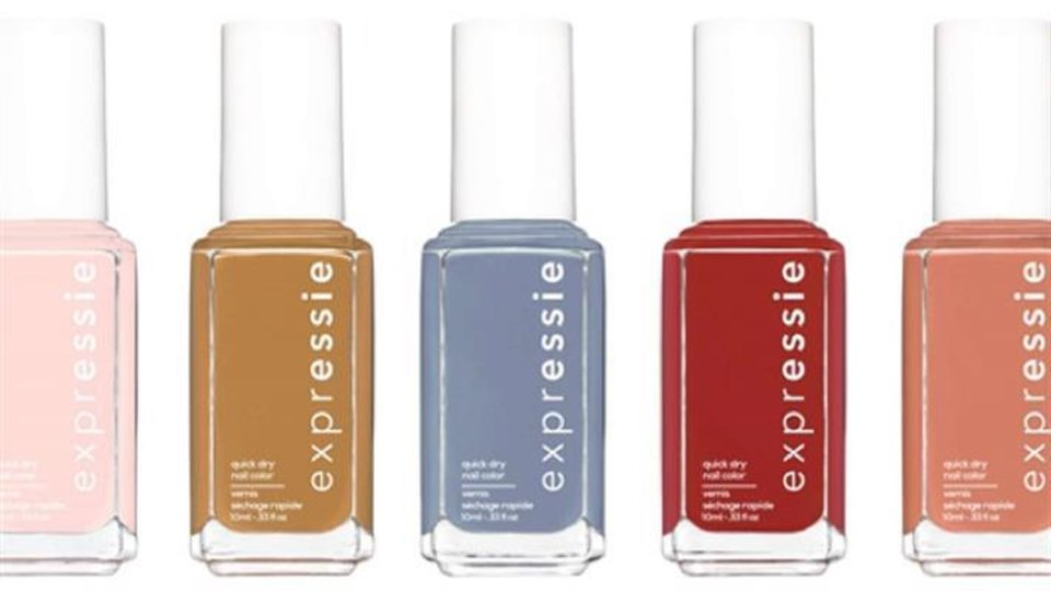 Photo - Essie's new Expressie line of quick-drying nail polishes.