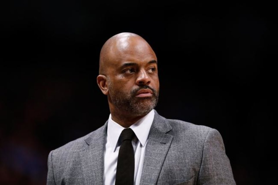 Photo -  Denver Nuggets assistant coach Wes Unseld Jr. landed his first NBA job in 1997, four days after graduating from Johns Hopkins University in Baltimore. [Isaiah J. Downing/USA TODAY Sports]