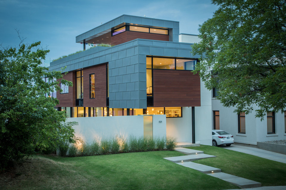 Photo -  The Mason Residence, owned by Steve Mason, designed by ADG PC, 824 NW 8, is a tour stop. The goal of the design was to create a house that would optimize a small residential urban lot and maximize the views of the Oklahoma City skyline. [PHOTO PROVIDED BY SIMON HURST PHOTOPGRAPHY/AIA CENTRAL OKLAHOMA CHAPTER]