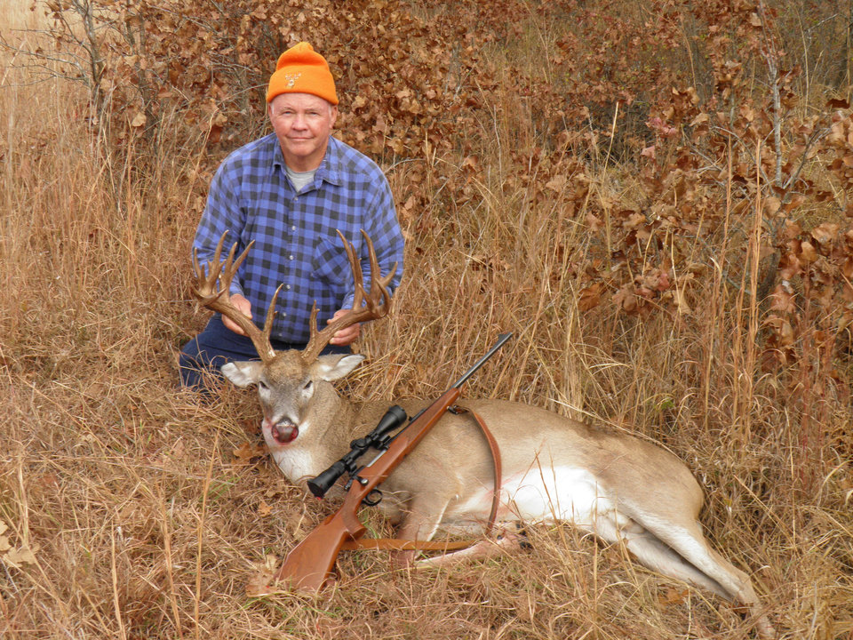"Photo -  Fred Zachary of Guthrie harvested this 24-point buck in Lincoln County during the deer gun season. ""It is a deer of a lifetime for me,"" he said."