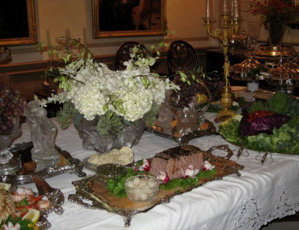 ENGAGEMENT PARTY...The buffet table. (Photo by Helen Ford Wallace).
