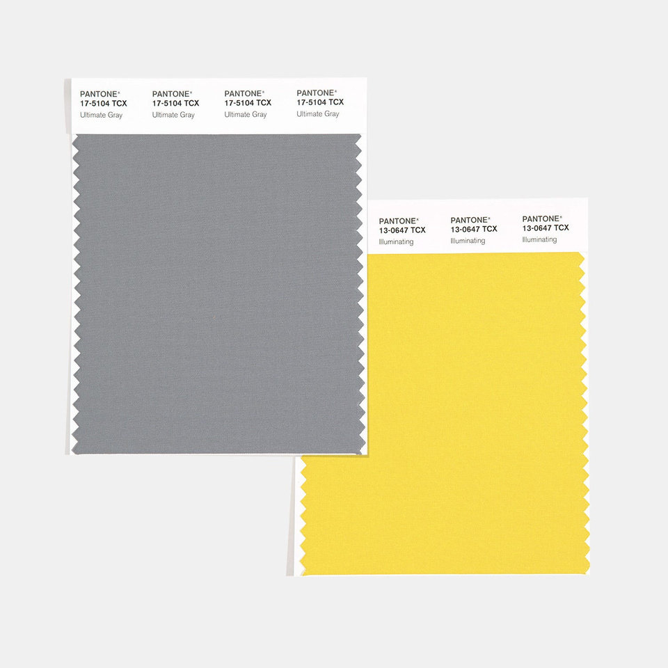 Photo - Pantone Color Institute named Ultimate Gray and Illuminating as its 2021 color of the year.