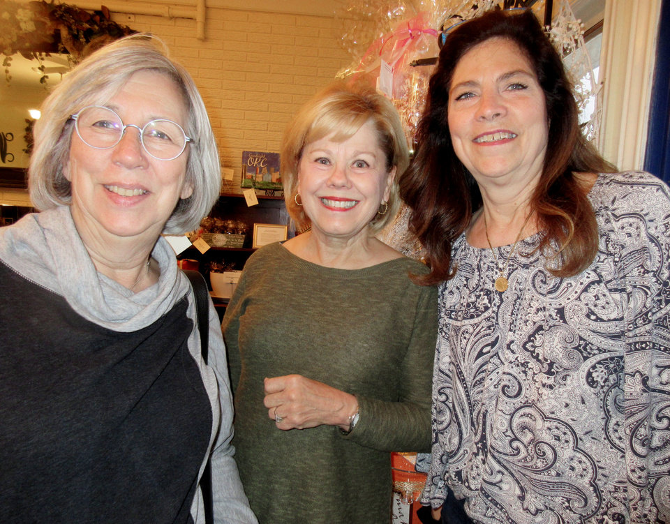 Photo - Debbie Nevard, Jane Elliott, Debbie Sullivan. PHOTO BY HELEN FORD WALLACE, THE OKLAHOMAN