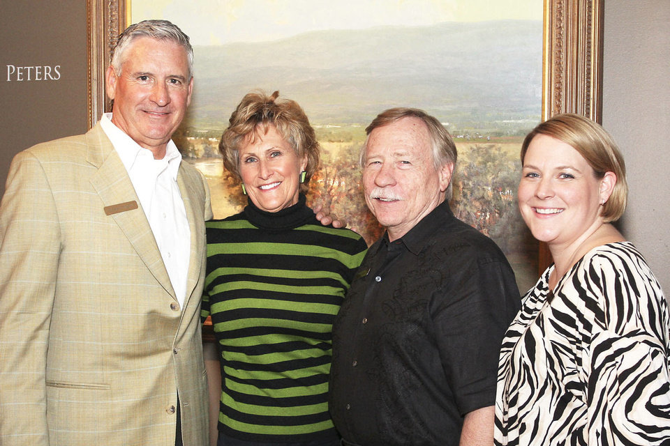 Photo - Andrew Peters, Judy Hatfield, Ken Howell, Laura Tirrell. PHOTO BY DAVID FAYTINGER, FOR THE OKLAHOMAN
