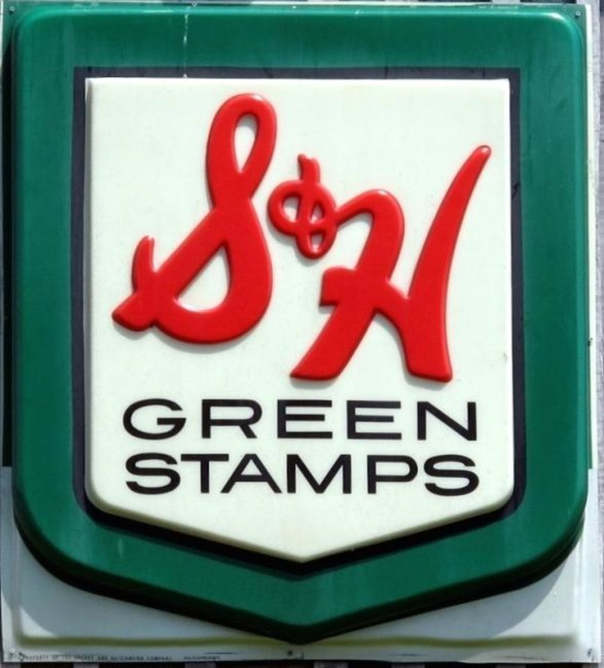 Photo -  S&H Green Stamps brings back memories for many who collected lick-and-stick adhesive stamps and placed them in books to redeem for merchandise. [FRANKIELEON]