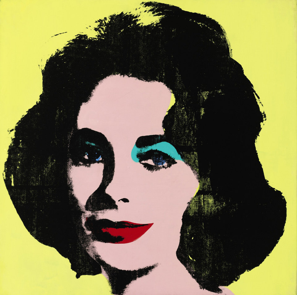 Photo - This undated photo provided by Sotheby's shows Andy Warhol's portrait of Elizabeth Taylor, titled