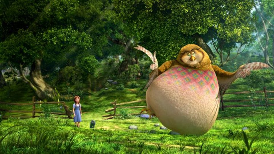 Photo -       Dorothy (voice of Lea Michele) and Wiser (voice of Oliver Platt) in Legends of Oz: Dorothy's Return.