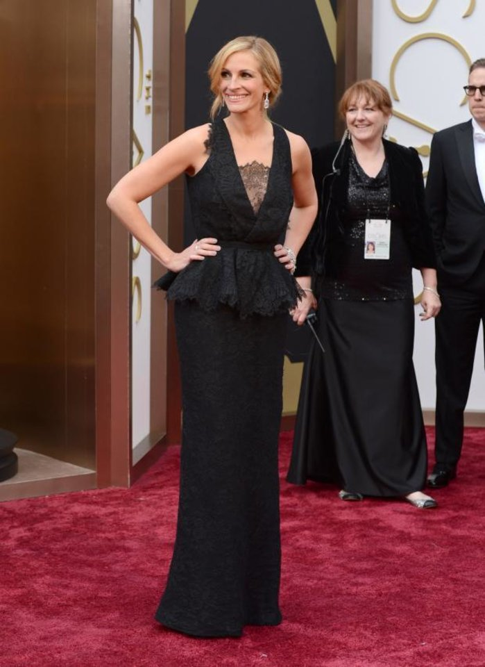 """Photo -  Julia Roberts is nominated for best supporting actress for the Oklahoma-made movie """"August: Osage County."""" (AP)"""