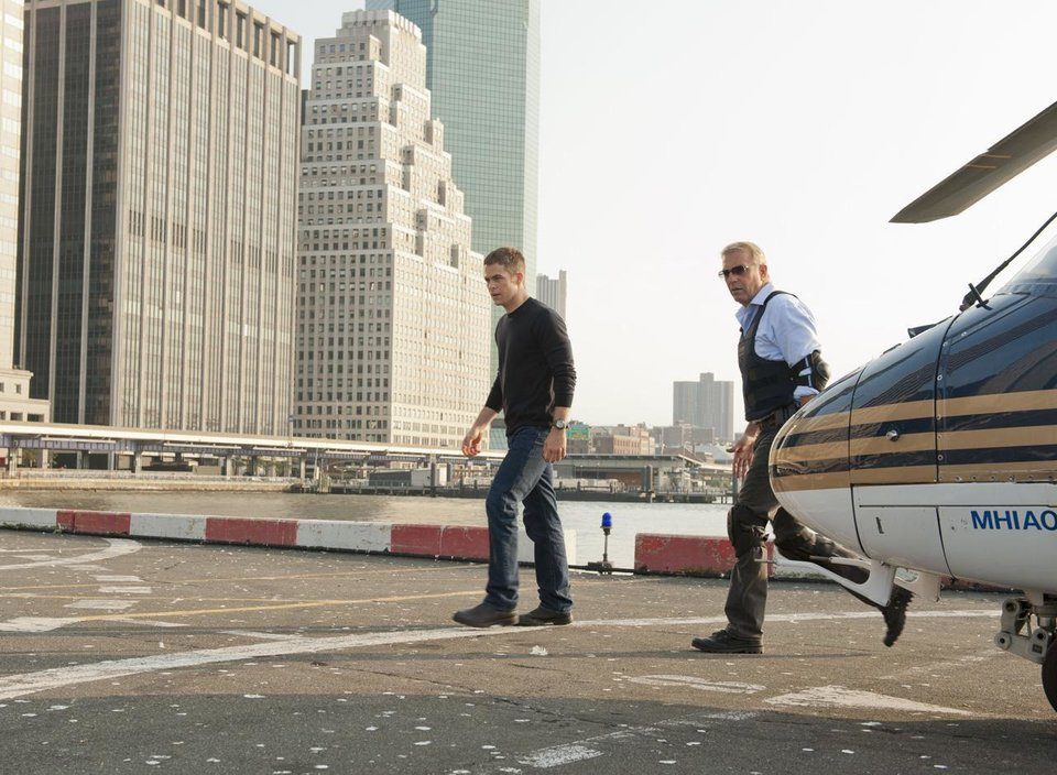 Photo - From left, Chris Pine and Kevin Costner co-star in