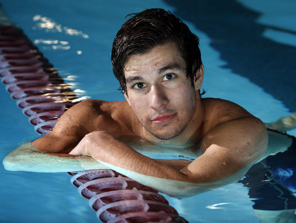 Norman North swimmer Tomas Elder.  Photo by Steve Sisney, The Oklahoman <strong>STEVE SISNEY - THE OKLAHOMAN</strong>