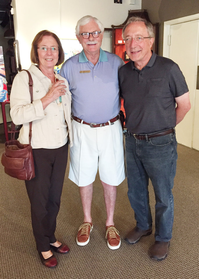 Photo - Elizabeth Waner, Randel Shadid, and Joe Waner.  LINDA HOWELL PHOTO