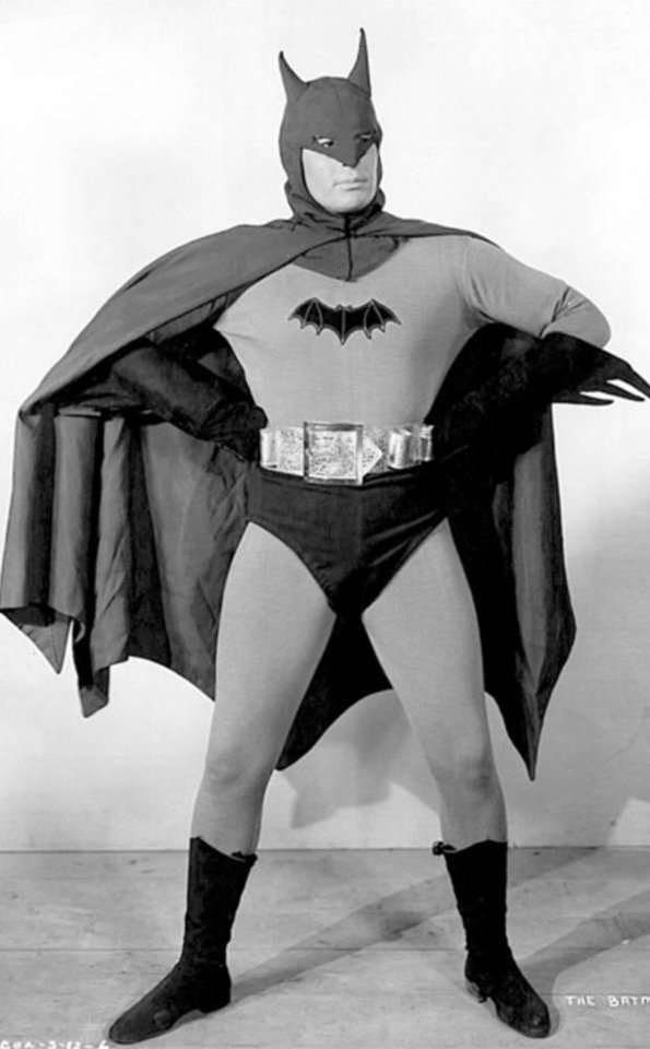 Photo - Lewis Wilson as Batman in the first Batman serial.