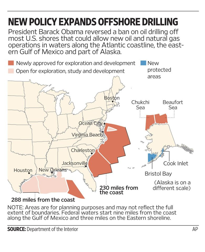 Photo - OIL DRILLING / NATURAL GAS / GRAPHIC: NEW POLICY EXPANDS OFFSHORE DRILLING