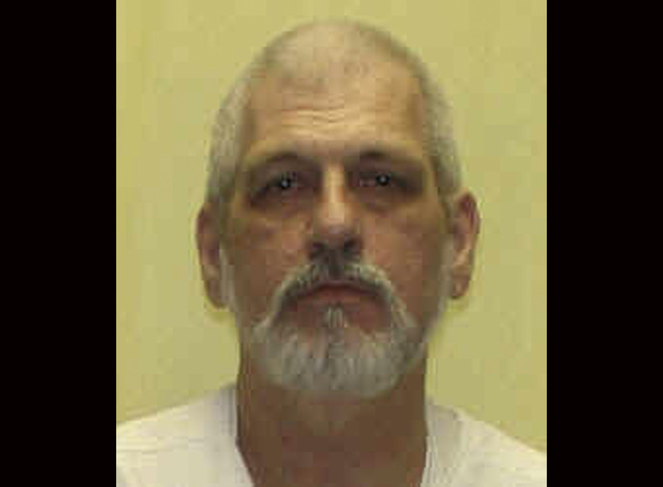 FILE - This undated file photo released by the Department of Rehabilitation and Corrections shows Harry Mitts. Mitts, a white gunman who spewed racial slurs before fatally shooting a black man and a police officer in a 1994 rampage was executed in Ohio on Wednesday, Sept. 25, 2013, with the state's last use of its execution drug. (AP Photo/Department of Rehabilitation and Corrections, File)