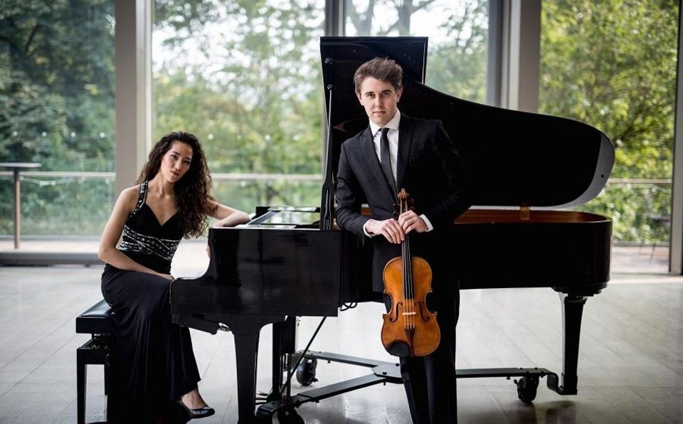Photo -  The Ezra Duo, a classical ensemble featuring violist Jacob Clewell and pianist Sasha Bult-Ito based in Toronto, Canada, will perform a free community concert at 7 p.m. Thursday in the Harding Fine Arts Academy Auditorium, 3333 N Shartel Ave. [Alice H Photography]