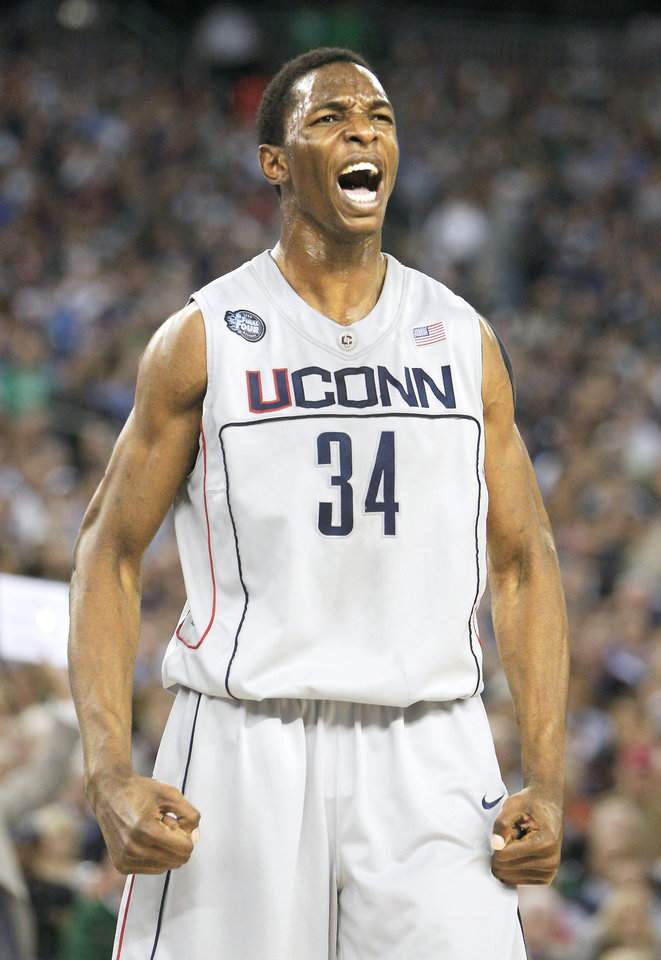 Photo - Two early mock drafts have UConn center Hasheem Thabeet landing in Oklahoma City with the No. 3 pick. Ap photo
