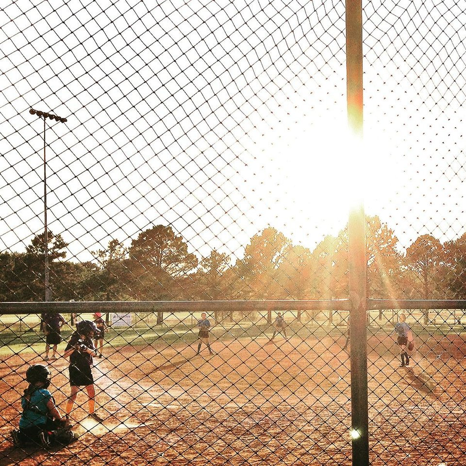 Photo -  @ashlijh   The little blonde by the pitcher's mound is my ten year old cousin, Hannah Hitch (lovingly known as