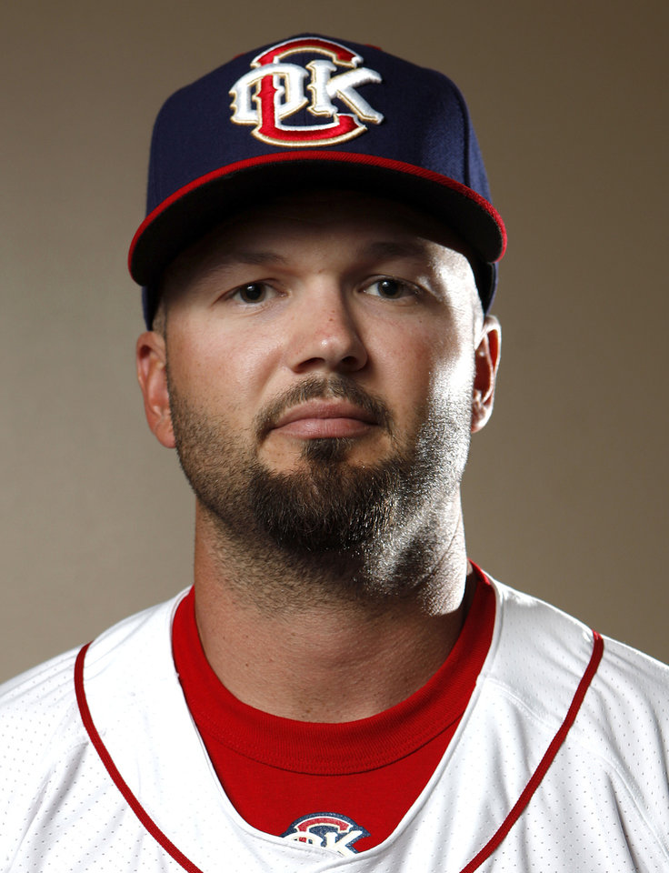 MINOR LEAGUE BASEBALL: Oklahoma City Redhawk\'s Scott Moore poses for a photograph during media day for the Oklahoma City Redhawks in Oklahoma City, Tuesday, April 3, 2012. Photo by Sarah Phipps, The OklahomanMINOR LEAGUE BASEBALL: