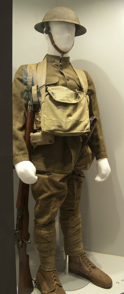 Photo - An American Doughboy Combat Uniform is on exhibit in the